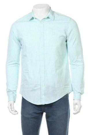 Мъжка риза Zara Man, Размер M, Цвят Син, Памук, Цена 20,16лв.