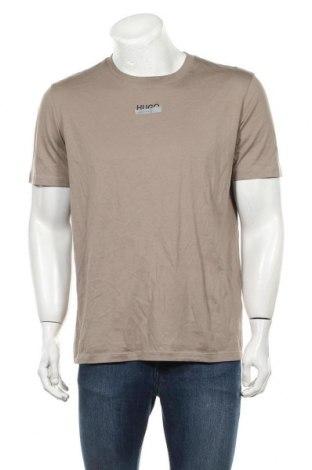 Tricou de bărbați Hugo Boss, Mărime L, Culoare Bej, Bumbac, Preț 224,90 Lei