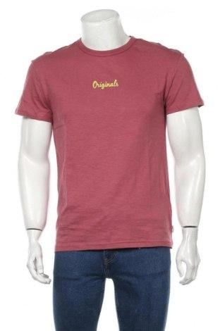 Мъжка тениска Originals By Jack & Jones, Размер S, Цвят Розов, Памук, Цена 17,15лв.