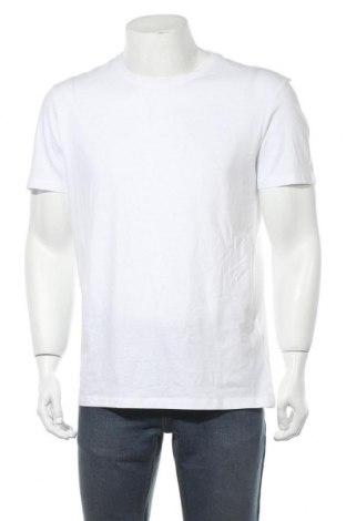 Мъжка тениска Pier One, Размер L, Цвят Бял, 100% памук, Цена 11,70лв.