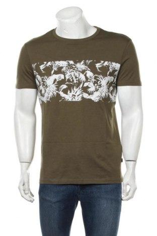 Мъжка тениска Pier One, Размер M, Цвят Зелен, Памук, Цена 12,60лв.