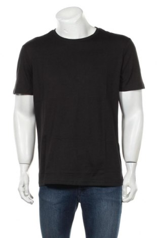 Мъжка тениска Pier One, Размер XL, Цвят Черен, Памук, Цена 12,48лв.