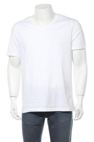 Мъжка тениска Pier One, Размер XL, Цвят Бял, Памук, Цена 11,70лв.