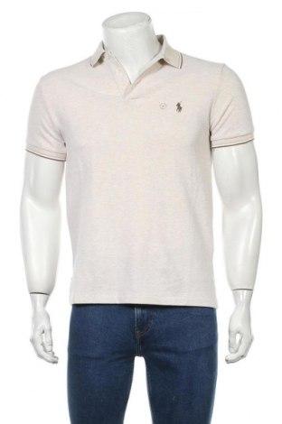 Ανδρικό t-shirt Polo By Ralph Lauren, Μέγεθος M, Χρώμα  Μπέζ, 96% βαμβάκι, 4% ελαστάνη, Τιμή 28,59€