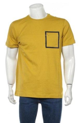 Мъжка тениска Selected Homme, Размер L, Цвят Зелен, Памук, Цена 24,36лв.