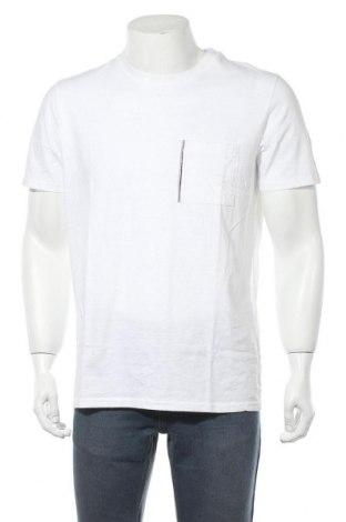 Мъжка тениска Selected Homme, Размер L, Цвят Бял, Памук, Цена 16,77лв.
