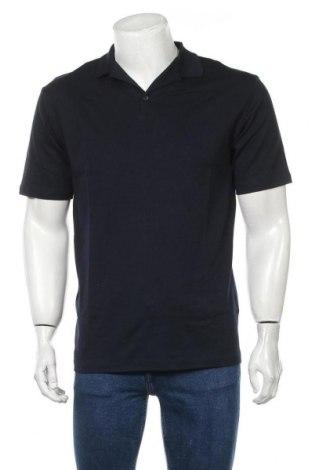 Мъжка тениска Selected Homme, Размер M, Цвят Син, Памук, Цена 18,06лв.