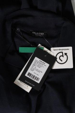Мъжка тениска Selected Homme, Размер M, Цвят Син, Памук, Цена 31,50лв.