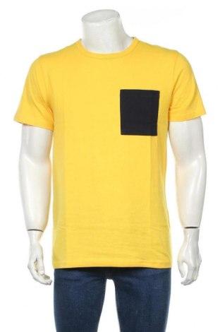 Ανδρικό t-shirt Selected Homme, Μέγεθος L, Χρώμα Κίτρινο, Βαμβάκι, Τιμή 11,06€