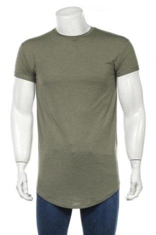 Мъжка тениска Topman, Размер S, Цвят Зелен, 50% полиестер, 50% вискоза, Цена 12,47лв.