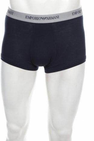 Boxeri bărbătești Emporio Armani Underwear, Mărime M, Culoare Albastru, 95% bumbac, 5% elastan, Preț 113,68 Lei