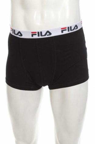 Boxeri bărbătești Fila, Mărime M, Culoare Negru, 95% bumbac, 5% elastan, Preț 47,70 Lei