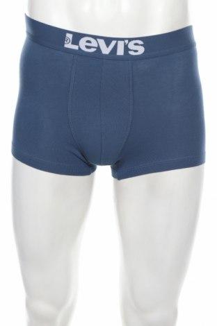Boxeri bărbătești Levi's, Mărime S, Culoare Albastru, 95% bumbac, 5% elastan, Preț 41,05 Lei