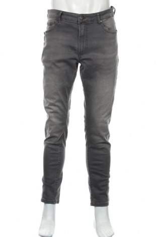 Мъжки дънки Pier One, Размер L, Цвят Сив, 98% памук, 2% еластан, Цена 38,28лв.
