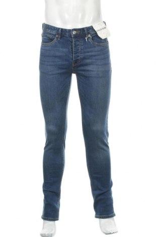 Мъжки дънки Topman, Размер M, Цвят Син, 99% памук, 1% еластан, Цена 48,00лв.