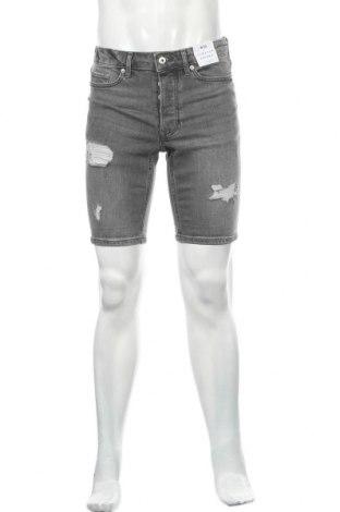 Мъжки къс панталон Topman, Размер S, Цвят Сив, 99% памук, 1% еластан, Цена 41,60лв.
