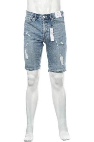 Мъжки къс панталон Topman, Размер M, Цвят Син, 99% памук, 1% еластан, Цена 41,60лв.