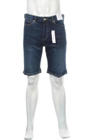 Мъжки къс панталон Topman, Размер L, Цвят Син, 99% памук, 1% еластан, Цена 38,35лв.
