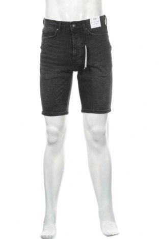 Мъжки къс панталон Topman, Размер S, Цвят Черен, 99% памук, 1% еластан, Цена 41,60лв.