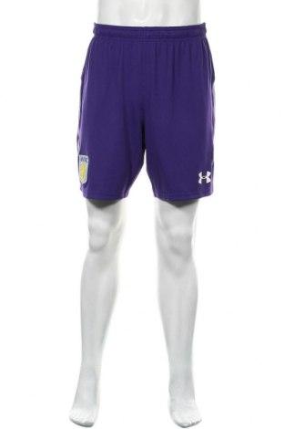 Pantaloni scurți de bărbați Under Armour, Mărime L, Culoare Mov, 90% poliester, 10% elastan, Preț 77,96 Lei