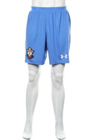 Pantaloni scurți de bărbați Under Armour, Mărime L, Culoare Albastru, 92% poliester, 8% elastan, Preț 77,96 Lei