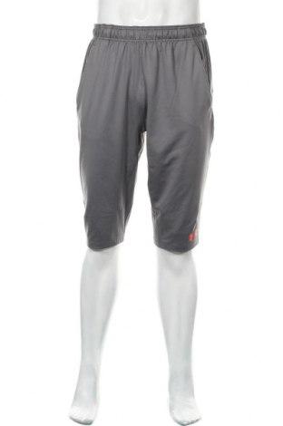 Pantaloni scurți de bărbați Under Armour, Mărime L, Culoare Gri, 90% poliester, 10% elastan, Preț 124,74 Lei