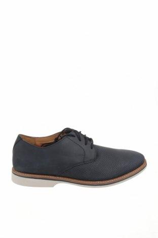 Ανδρικά παπούτσια Clarks, Μέγεθος 45, Χρώμα Μπλέ, Γνήσιο δέρμα, Τιμή 53,12€