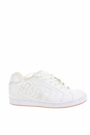 Мъжки обувки DC Shoes, Размер 40, Цвят Бял, Естествена кожа, Цена 24,57лв.