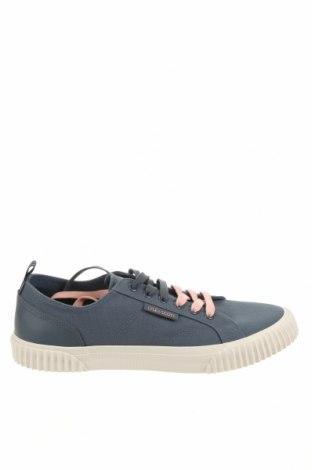 Ανδρικά παπούτσια Lyle & Scott, Μέγεθος 43, Χρώμα Μπλέ, Κλωστοϋφαντουργικά προϊόντα, γνήσιο δέρμα, Τιμή 27,60€