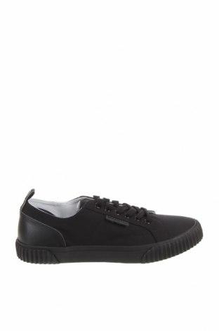 Ανδρικά παπούτσια Lyle & Scott, Μέγεθος 42, Χρώμα Μαύρο, Κλωστοϋφαντουργικά προϊόντα, γνήσιο δέρμα, Τιμή 27,60€