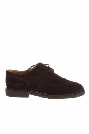Мъжки обувки Massimo Dutti, Размер 43, Цвят Кафяв, Естествен велур, Цена 33,75лв.