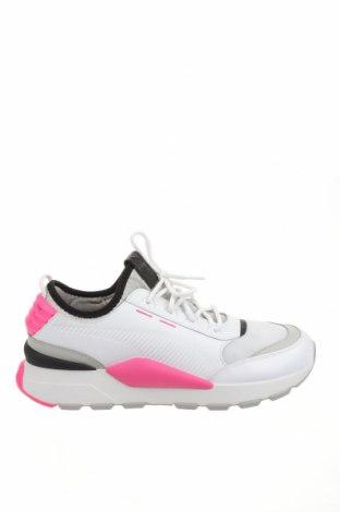 Ανδρικά παπούτσια PUMA, Μέγεθος 44, Χρώμα Λευκό, Γνήσιο δέρμα, κλωστοϋφαντουργικά προϊόντα, Τιμή 41,52€