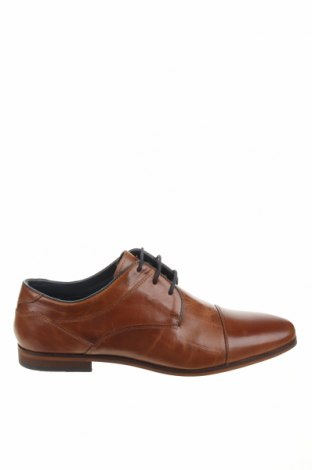 Ανδρικά παπούτσια Pier One, Μέγεθος 44, Χρώμα Καφέ, Γνήσιο δέρμα, Τιμή 36,57€