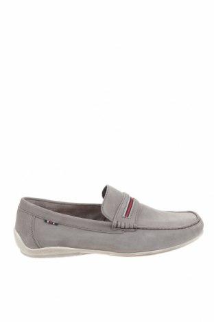 Ανδρικά παπούτσια Pier One, Μέγεθος 44, Χρώμα Γκρί, Φυσικό σουέτ, Τιμή 33,12€