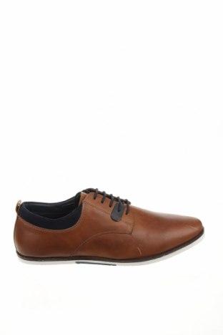 Ανδρικά παπούτσια Pier One, Μέγεθος 44, Χρώμα Καφέ, Γνήσιο δέρμα, Τιμή 34,59€