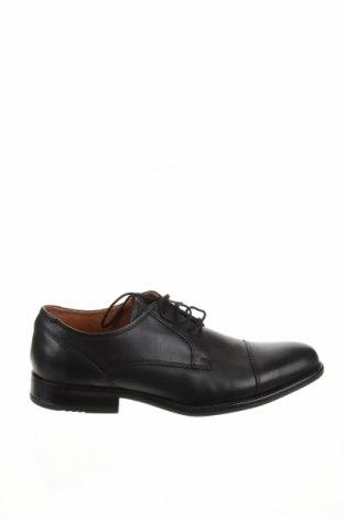 Ανδρικά παπούτσια Pier One, Μέγεθος 44, Χρώμα Μαύρο, Γνήσιο δέρμα, Τιμή 36,57€