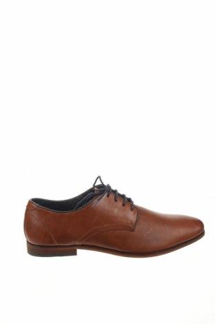 Ανδρικά παπούτσια Pier One, Μέγεθος 45, Χρώμα Καφέ, Γνήσιο δέρμα, Τιμή 36,57€