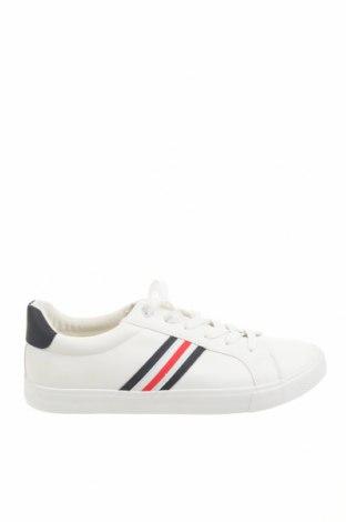 Ανδρικά παπούτσια Pier One, Μέγεθος 45, Χρώμα Λευκό, Δερματίνη, Τιμή 20,63€