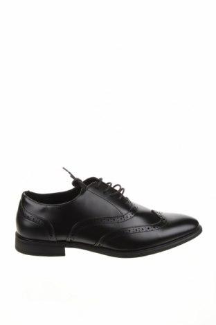Ανδρικά παπούτσια Pier One, Μέγεθος 45, Χρώμα Μαύρο, Δερματίνη, Τιμή 23,62€