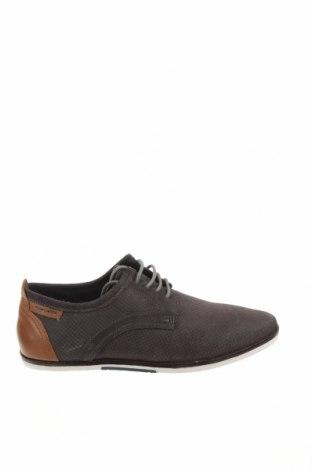 Мъжки обувки Pier One, Размер 41, Цвят Сив, Естествена кожа, Цена 70,95лв.