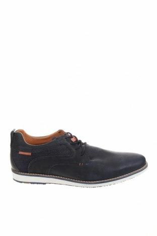 Мъжки обувки Pier One, Размер 44, Цвят Син, Естествена кожа, текстил, Цена 89,25лв.