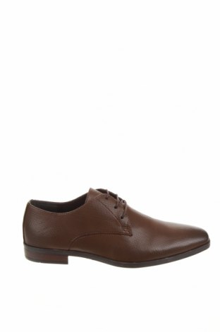 Ανδρικά παπούτσια Pier One, Μέγεθος 41, Χρώμα Καφέ, Δερματίνη, Τιμή 21,52€