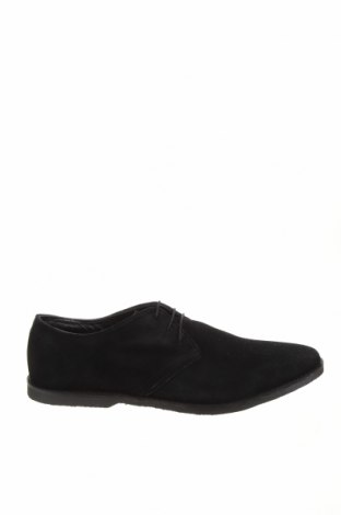 Мъжки обувки Pier One, Размер 48, Цвят Черен, Естествен велур, Цена 70,95лв.
