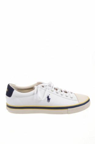 Ανδρικά παπούτσια Polo By Ralph Lauren, Μέγεθος 48, Χρώμα Λευκό, Κλωστοϋφαντουργικά προϊόντα, Τιμή 32,23€