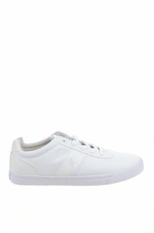 Ανδρικά παπούτσια Polo By Ralph Lauren, Μέγεθος 48, Χρώμα Λευκό, Κλωστοϋφαντουργικά προϊόντα, Τιμή 43,56€