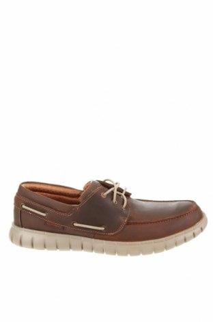 Мъжки обувки Skechers, Размер 45, Цвят Кафяв, Естествена кожа, Цена 74,25лв.