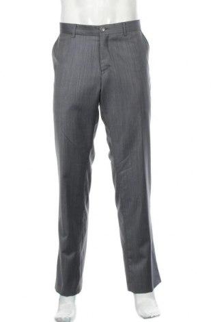 Мъжки панталон Bertoni, Размер L, Цвят Сив, 80% вълна, 10% полиамид, 10%, Цена 9,98лв.