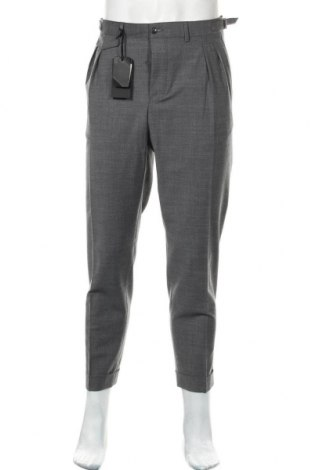 Pantaloni de bărbați Liu Jo, Mărime XL, Culoare Gri, 53% poliester, 43% lână, 4% elastan, Preț 74,61 Lei
