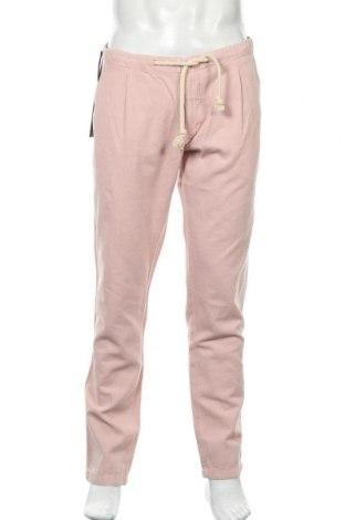 Мъжки панталон Liu Jo, Размер L, Цвят Розов, 80% памук, 20% лен, Цена 53,70лв.