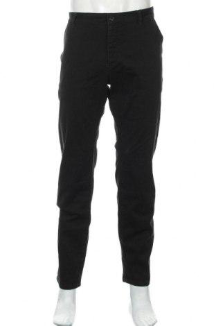 Мъжки панталон Pier One, Размер L, Цвят Черен, 98% памук, 2% еластан, Цена 40,02лв.